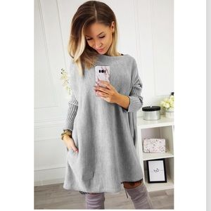 Dresses & Skirts - Just iN! Oversized Batwing Sleeve Sweater Dress